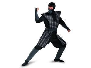 Adult Mens Black Evil Ninja Mortal Kombat Smoke Costume Plus Size XXL 50-52