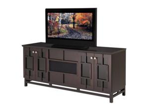 "70"" Contemporary Asian Console TV Stand (Wenge Finish)"