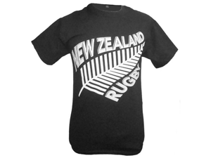 New Zealand Fern Rugby T-Shirt - M