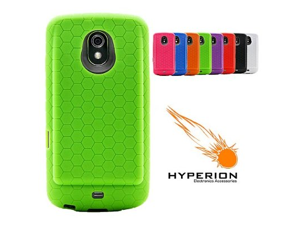 Hyperion Samsung Galaxy Nexus Extended Battery HoneyComb TPU Case Green
