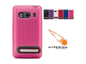 Hyperion Sprint HTC Evo 4G Extended Battery HoneyComb TPU Case Pink