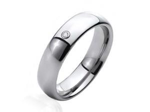 Bling Jewelry Comfort Fit CZ Tungsten Wedding Band 6mm