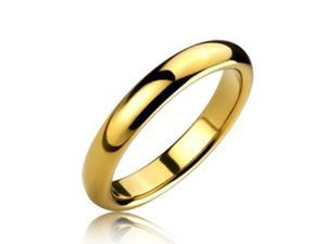 Bling Jewelry Gold Plated 4mm Tungsten Ring