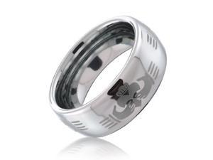 Bling Jewelry Claddagh Celtic Hand Design Tungsten Ring 8mm