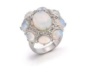 Bling Jewelry Vintage Style CZ Opalite Cocktail Ring