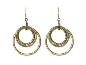 Journee Collection Goldtone Vintage Three Circle Dangle Earrings