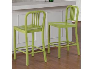 Limeade Metal Counter Stool (Set of 2)