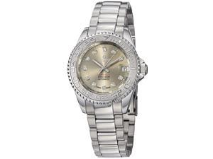 Kadloo Women's 80886-GR 'Match Race' Grey Diamond Dial Stainless Steel Watch