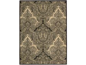 Nourison Joseph Abboud Majestic Black/ Beige Paisley Wool Rug (3'6 x 5'6)