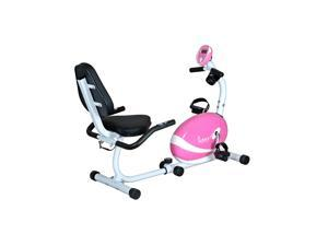 Sunny Pink Magnetic Recumbent Bike