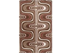 Tepper Jackson Hand-tufted Dreamscape Brown Geometric Rug Rug (2' x 3')