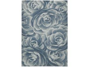 Nourison Hand-tufted Moda Light Blue Petal Rug  (3'6 x 5'6)