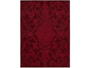 Nourison Hand-tufted Moda Medallion Ruby Red Rug (3'6 x 5'6)