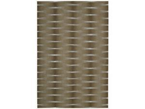 Nourison Hand-tufted Moda Brown Geometric Rug (3'6 x 5'6)