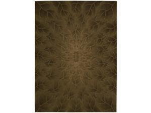 Nourison Hand-tufted Moda Brown Leaf Pattern Rug (3'6 x 5'6)