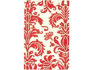 Hand Tufted Moda Red Wool Rug (5 x 8)