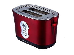 Ovente 2 Slice Metallic Red Toaster