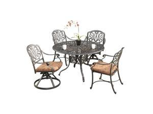 Aluminum Floral Blossom Five-Piece Dining Set