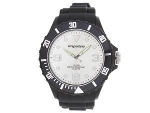 Impulse by Steinhausen Mens Poseidon Silicone Diver White/ Black Quartz Watch