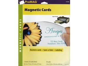 ProMag Magnetic Business Cards- 5 Sheets/Pkg