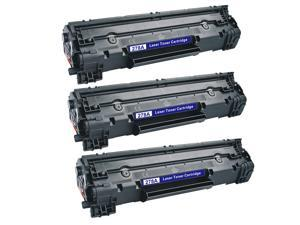 HP CE278A (78A) Black Compatible Laser Toner Cartridge (Pack of 3)