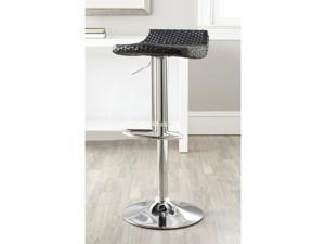 Safavieh Juji Black Adjustable Height Swivel Bar Stool