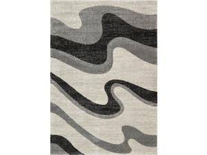 Moda Four Rivers Cream Frieze Transitional Rug (5' x 7'3)