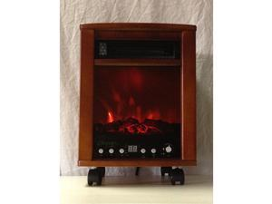 Energy Saver Infrared Oak Heater with Simulated Fireplace