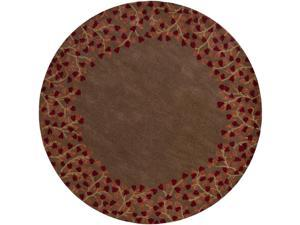 Hand-tufted Whimsy Chocolate Wool Rug (6' Round)
