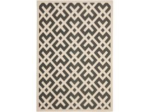 Poolside Black/Bone Indoor Outdoor Area Rug (8' x 11'2)
