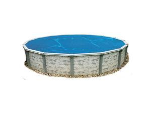 Swim Time 15 ft. Round 8-mil Solar Blanket for Above Ground Pools - Blue