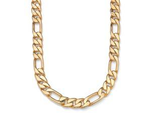 Toscana Collection Gold Overlay 9mm Figaro Link Necklace (24-inch)