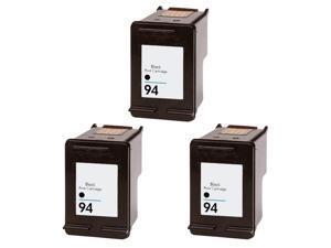Hewlett Packard HP 94 Black Ink Cartridge (Pack of 3) (Remanufactured)