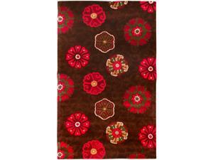 Smithsonian Hand-tufted Brown Sivas Floral Medallion Wool Rug (3'3 x 5'3)