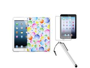 BasAcc Rainbow Case/ Stylus/ Screen Protector for Apple iPad Mini