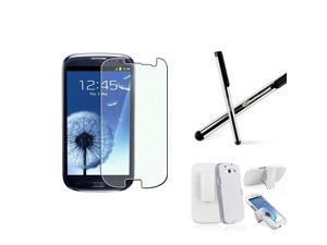BasAcc Holster/ Screen Protector/ Stylus for Samsung Galaxy S III/ S3