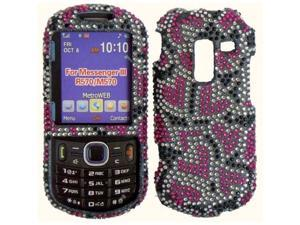 BasAcc Nightly Hearts Diamond Case for the Samsung Messenger 3 R570