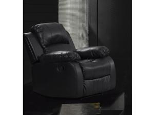 Rotunda Faux Leather Black Reclining Chair