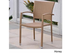 International Caravan Barcelona Resin Wicker/Aluminum Outdoor Dining Chairs (Set of 2)
