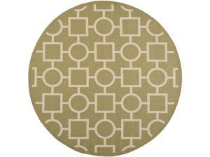Safavieh Indoor/ Outdoor Courtyard Green/ Beige Latex-free Rug (7'10 Round)