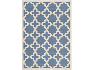 Safavieh Indoor/ Outdoor Courtyard Contemporary Blue/ Beige Rug (5'3'' x 7'7'')