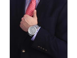 Luxurman Men's 1/10ct Diamond Watch Stainless Steel Band