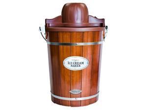 Nostalgia Electrics Vintage Collection Old-fashioned 6-quart Wood Bucket Ice Cream Maker