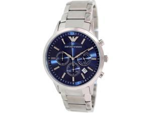 Emporio Armani Men's AR2448 Silver Stainless-Steel Quartz Watch with Blue Dial