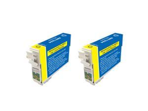 Epson T124400 Yellow Ink Cartridges (Pack of 2) (Remanufactured)