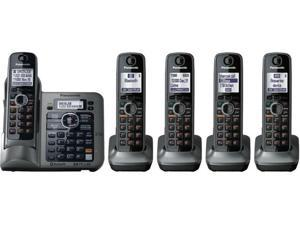 Panasonic KX-TG7645M Link-To-Cell 1.9 GHz Digital DECT 6.0 Cordless Phones Answering Machine with 5X Handsets