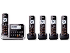 Panasonic KX-TG7875S 1.9 GHz DECT 6.0 Link to Cell Via Bluetooth Cordless Phone with Integrated Answering Machine and 5 Handsets