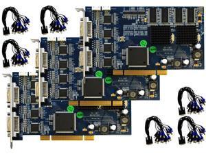 48 Channel Saber CCTV Hybrid Business Grade DVR Card H.264 D1 - OEM