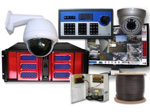 64 Channel Hybrid Enterprise DVR PTZ Controller Surveillance System H.264 D1 Resolution Video Security