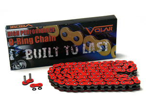 525 O-Ring O Ring Motorcycle Chain with 114 Links - Red